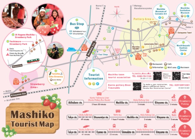 Download our Strawberry picking map of Mashiko near Tokyo (Tochiotome, Skyberries and much more)